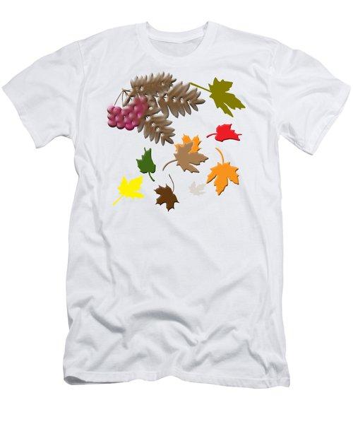 Autumn Men's T-Shirt (Slim Fit) by Judy Hall-Folde