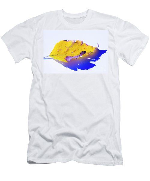 Men's T-Shirt (Athletic Fit) featuring the photograph Autumn Leaf Abstract by Yulia Kazansky