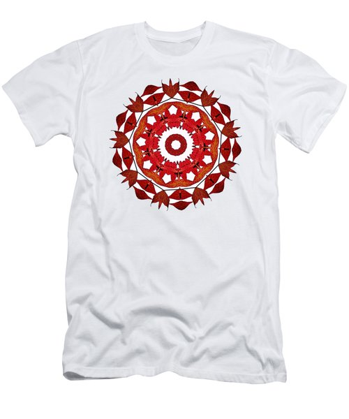 Autumn Leaves Mandala By Kaye Menner Men's T-Shirt (Athletic Fit)
