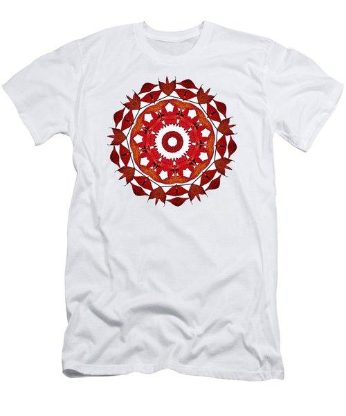 Autumn Leaves Mandala By Kaye Menner Men's T-Shirt (Athletic Fit)