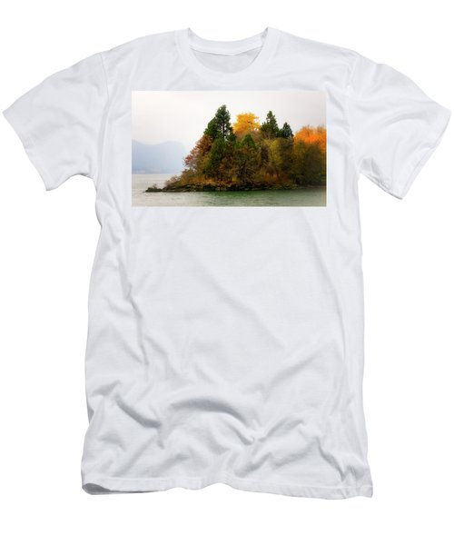 Autumn On The Columbia Men's T-Shirt (Slim Fit) by Albert Seger