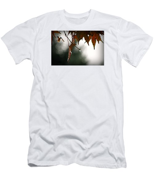Men's T-Shirt (Slim Fit) featuring the photograph Autumn Raindrops by Katie Wing Vigil
