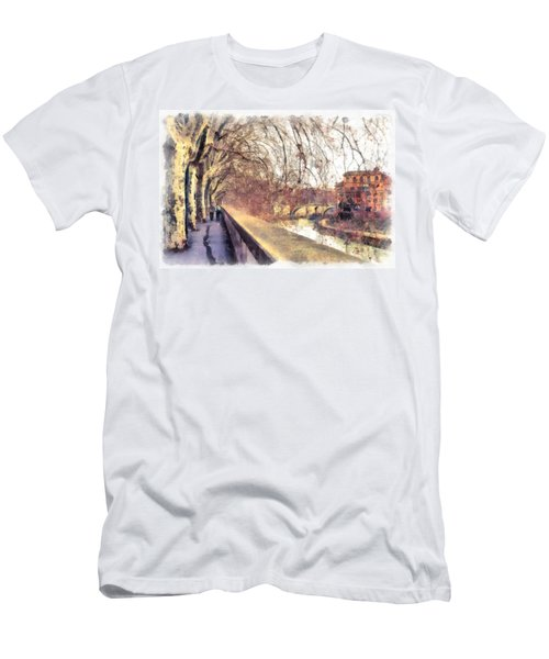 Autumn Men's T-Shirt (Slim Fit) by Sergey Simanovsky