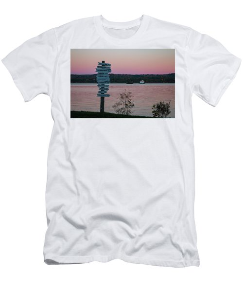 Autumn Sunset At Esopus Meadows Men's T-Shirt (Athletic Fit)