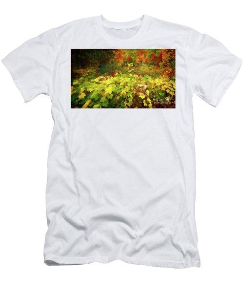 Autumn Watercolor Men's T-Shirt (Athletic Fit)