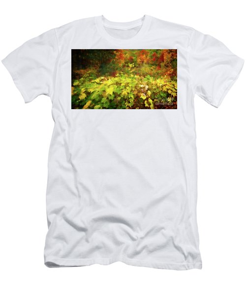 Autumn Watercolor Men's T-Shirt (Athletic Fit)