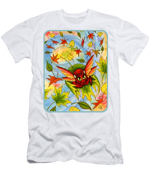 Autumn Winds Fairy Cat Men's T-Shirt (Athletic Fit)