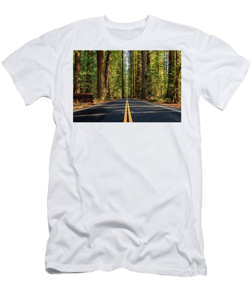 Avenue Of The Giants Men's T-Shirt (Slim Fit) by James Eddy