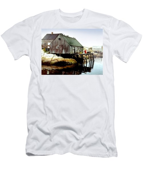 Awaiting The Catch Men's T-Shirt (Athletic Fit)