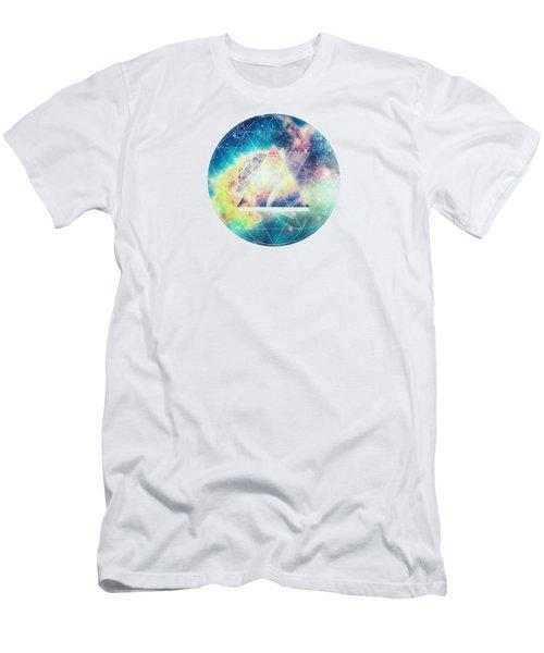 Awsome Collosal Deep Space Triangle Art Sign Men's T-Shirt (Slim Fit) by Philipp Rietz
