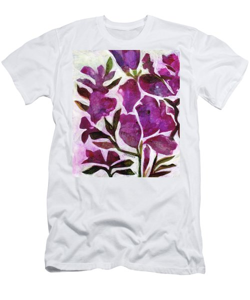 Men's T-Shirt (Slim Fit) featuring the painting Azaleas by Julie Maas