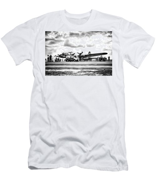 B-17 Bomber Fueling Up In Hdr Men's T-Shirt (Athletic Fit)