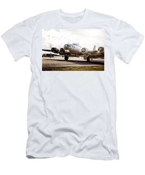 B-17 Bomber Ready For Takeoff Men's T-Shirt (Athletic Fit)