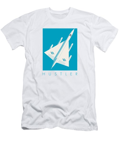 B-58 Hustler Supersonic Jet Bomber - Blue Men's T-Shirt (Athletic Fit)