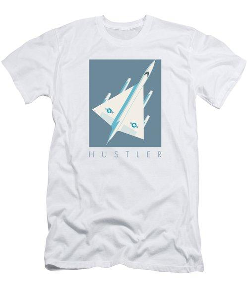 B-58 Hustler Supersonic Jet Bomber - Slate Men's T-Shirt (Athletic Fit)