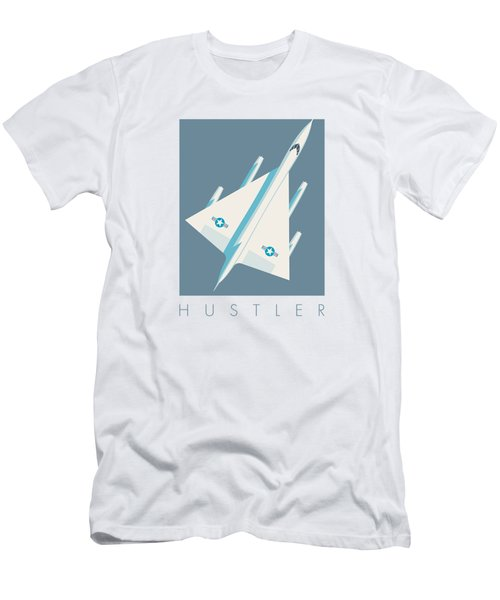 B-58 Hustler Supersonic Jet Bomber - Slate Men's T-Shirt (Athletic Fit)