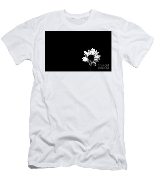 Men's T-Shirt (Slim Fit) featuring the photograph B/w Flower  by Juls Adams