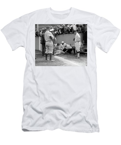 Babe Ruth Knocked Out By A Wild Pitch Men's T-Shirt (Athletic Fit)