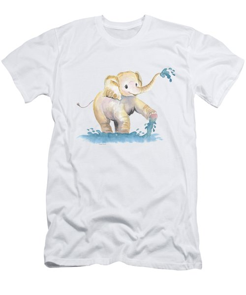 Baby Elephant 2 Men's T-Shirt (Athletic Fit)