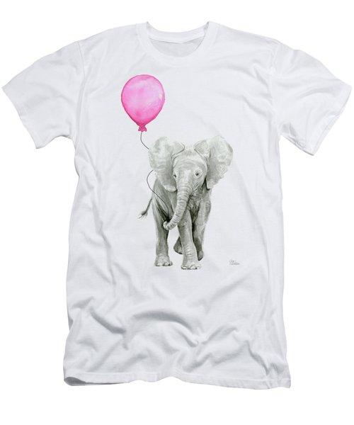 Baby Elephant Watercolor  Men's T-Shirt (Athletic Fit)