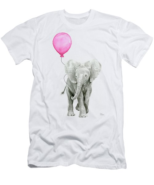 Baby Elephant Watercolor  Men's T-Shirt (Athletic Fit)