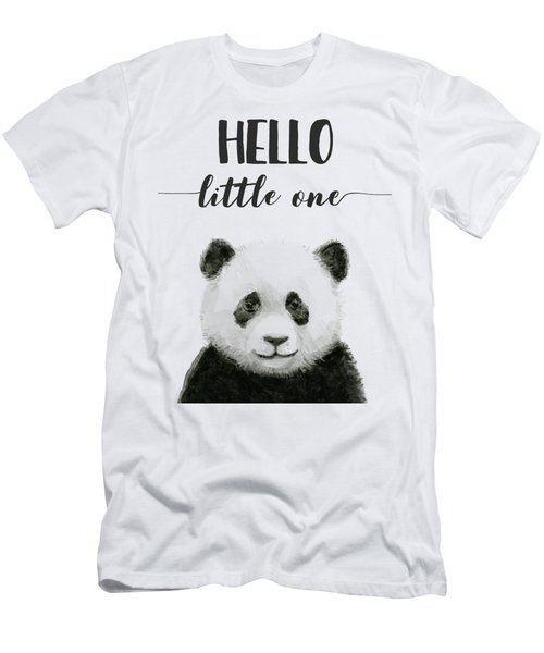 Baby Panda Hello Little One Nursery Decor Men's T-Shirt (Athletic Fit)