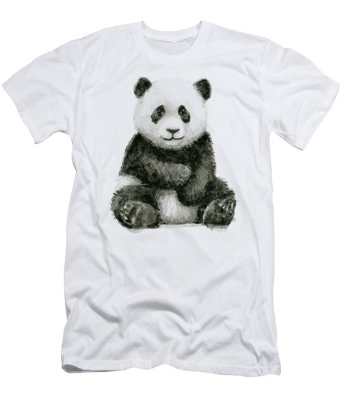 Baby Panda Watercolor Men's T-Shirt (Athletic Fit)