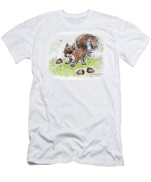 Baby Squirrel Men's T-Shirt (Slim Fit) by Maria Bolton-Joubert