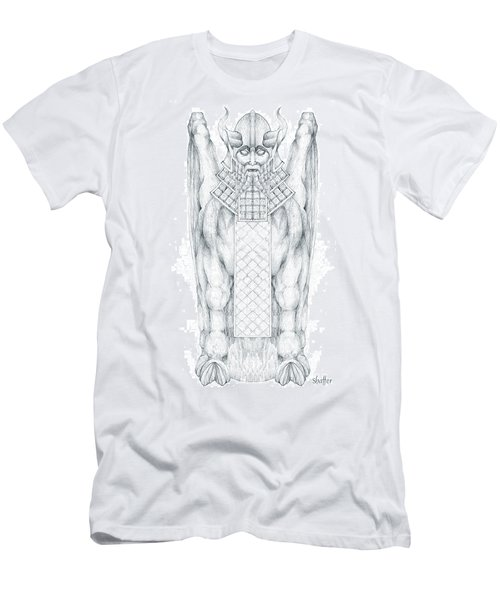 Babylonian Sphinx Lamassu Men's T-Shirt (Athletic Fit)