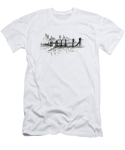 Backlit Fence Men's T-Shirt (Athletic Fit)