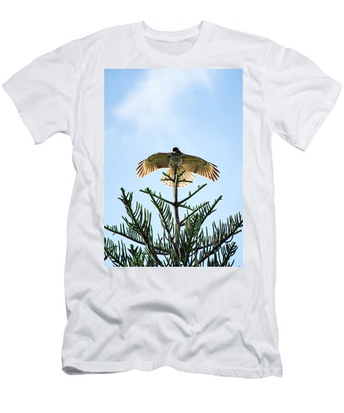 Backlit Landing Hawk Men's T-Shirt (Athletic Fit)