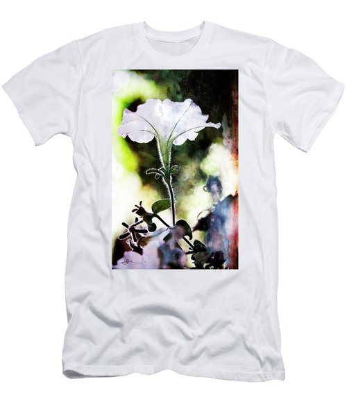 Backlit White Flower Men's T-Shirt (Athletic Fit)