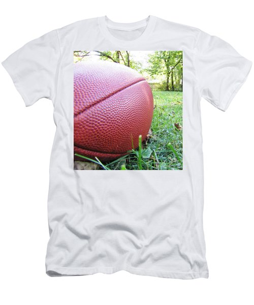 Men's T-Shirt (Athletic Fit) featuring the photograph Backyard Football by Robert Knight