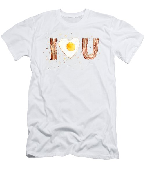 Bacon And Egg I Love You Men's T-Shirt (Athletic Fit)