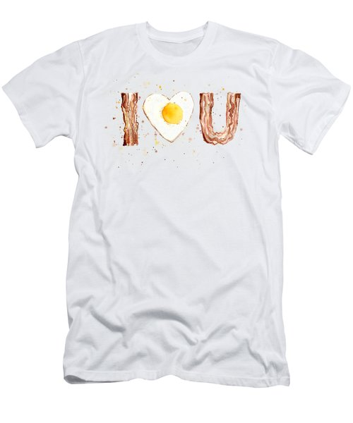 Bacon And Egg Love Men's T-Shirt (Athletic Fit)