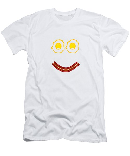 Bacon And Eggs Happy Face Men's T-Shirt (Athletic Fit)