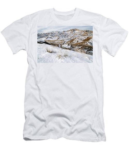 Badlands In Snow Men's T-Shirt (Athletic Fit)