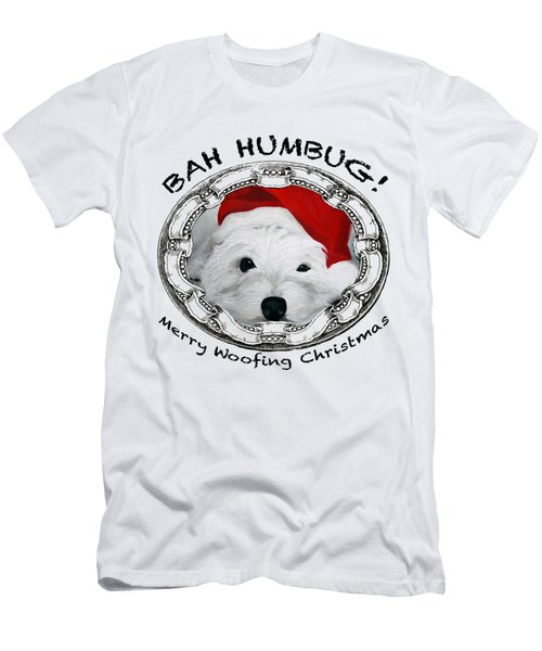 Bah Humbug Merry Woofing Christmas Men's T-Shirt (Athletic Fit)