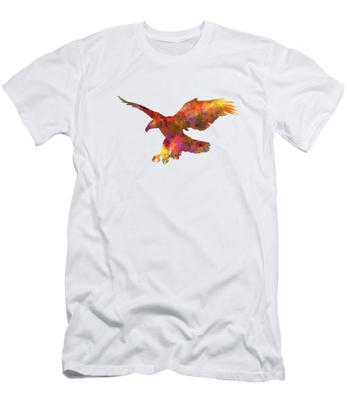 Bald Eagle 01 In Watercolor Men's T-Shirt (Athletic Fit)