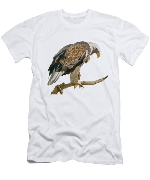 Men's T-Shirt (Slim Fit) featuring the photograph Bald Eagle - Transparent by Nikolyn McDonald