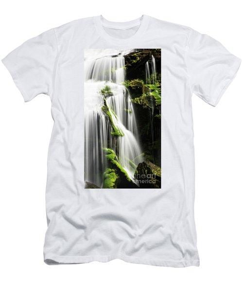 Bald River Falls Men's T-Shirt (Athletic Fit)