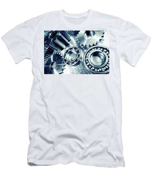 Ball-bearings And Cogs In Titanium Men's T-Shirt (Slim Fit) by Christian Lagereek