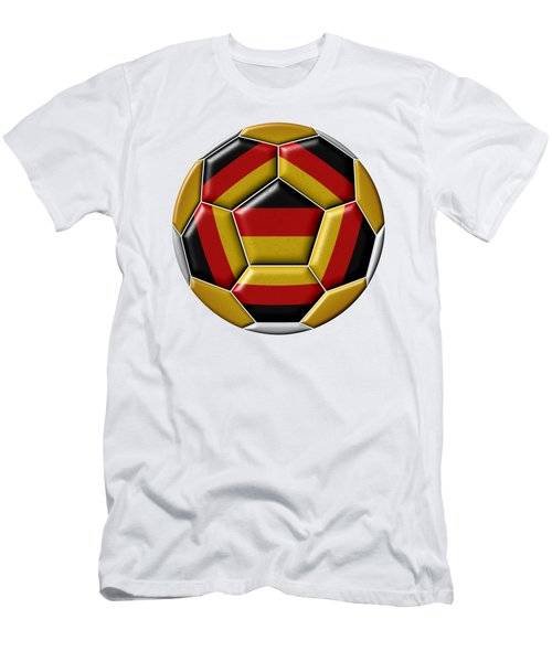 Ball With Germany Flag Men's T-Shirt (Athletic Fit)