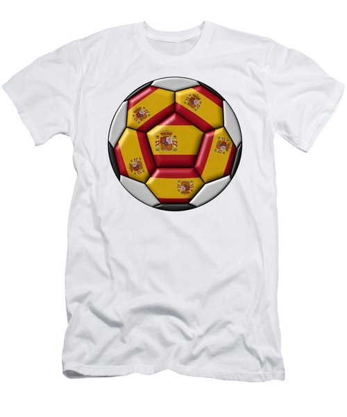 Ball With Spanish Flag Men's T-Shirt (Athletic Fit)