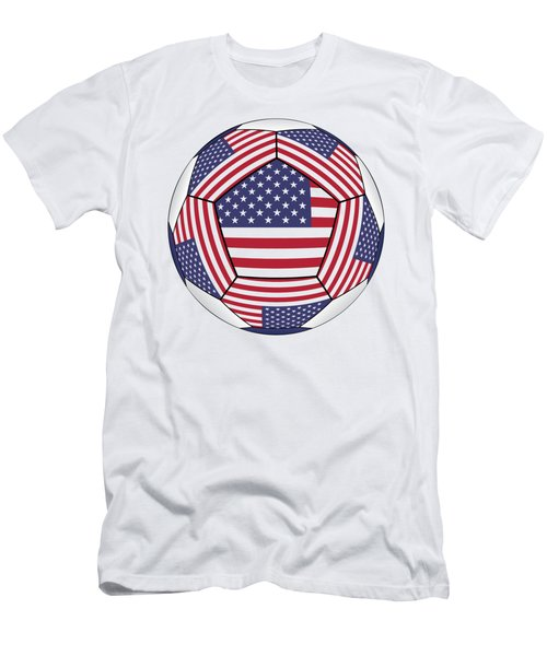 Ball With United States Flag Men's T-Shirt (Athletic Fit)