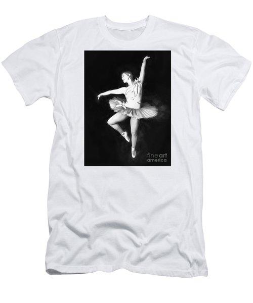 Men's T-Shirt (Slim Fit) featuring the photograph Ballerina  No. 2   ... by Chuck Caramella