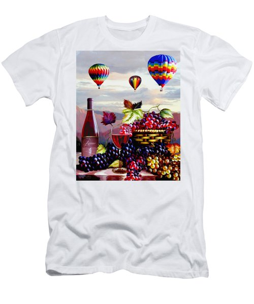 Balloon Ride At Dawn Men's T-Shirt (Athletic Fit)