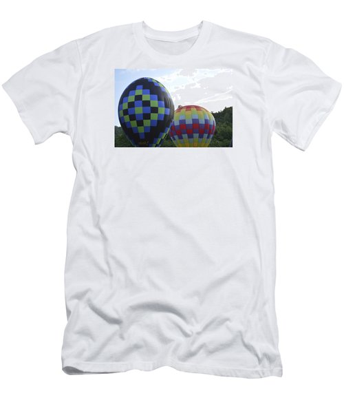 Men's T-Shirt (Slim Fit) featuring the photograph Balloons Waiting For The Weather To Clear by Linda Geiger