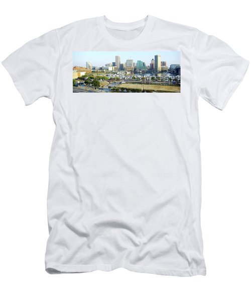 Men's T-Shirt (Slim Fit) featuring the photograph Baltimore's Inner Harbor by Brian Wallace