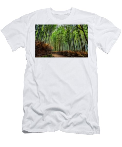 Men's T-Shirt (Athletic Fit) featuring the photograph Bamboo Path by Rikk Flohr